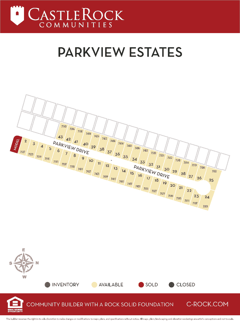Parkview Estates Lot Map