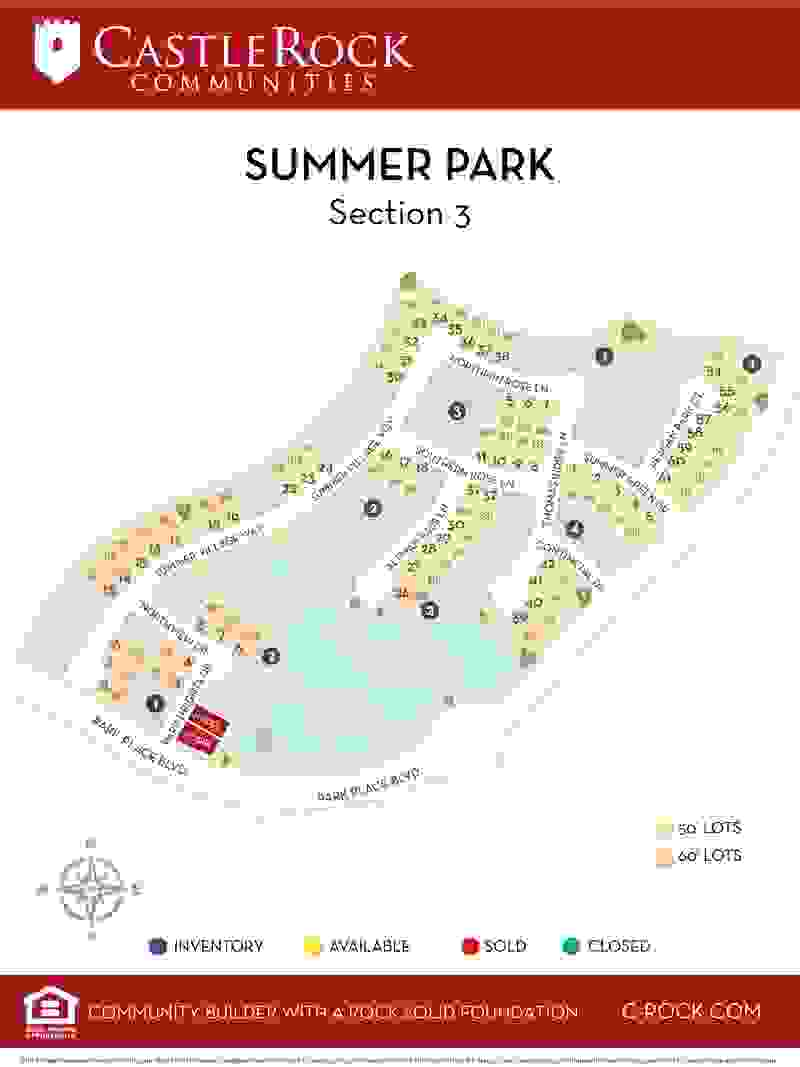 Summer Park Section 3 Lot Map