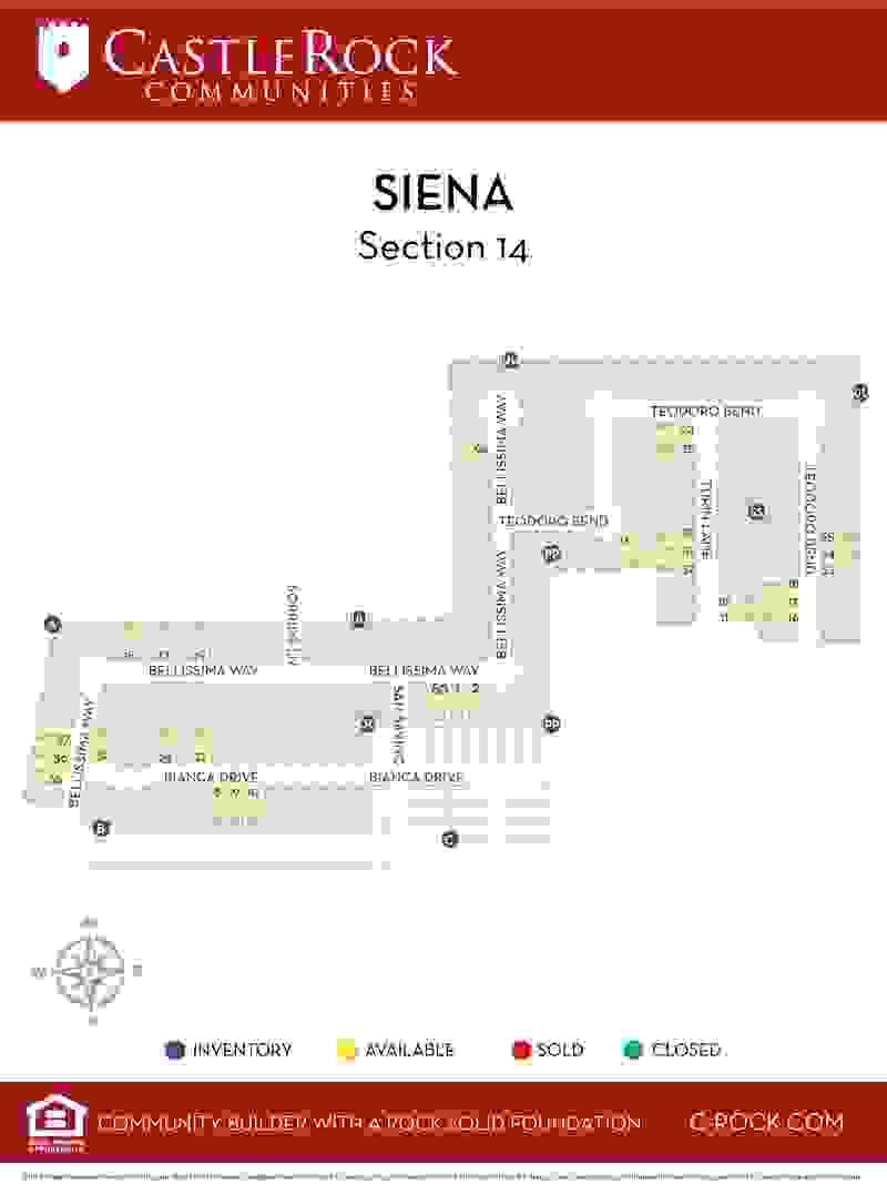 Siena Lot Map - Section 14