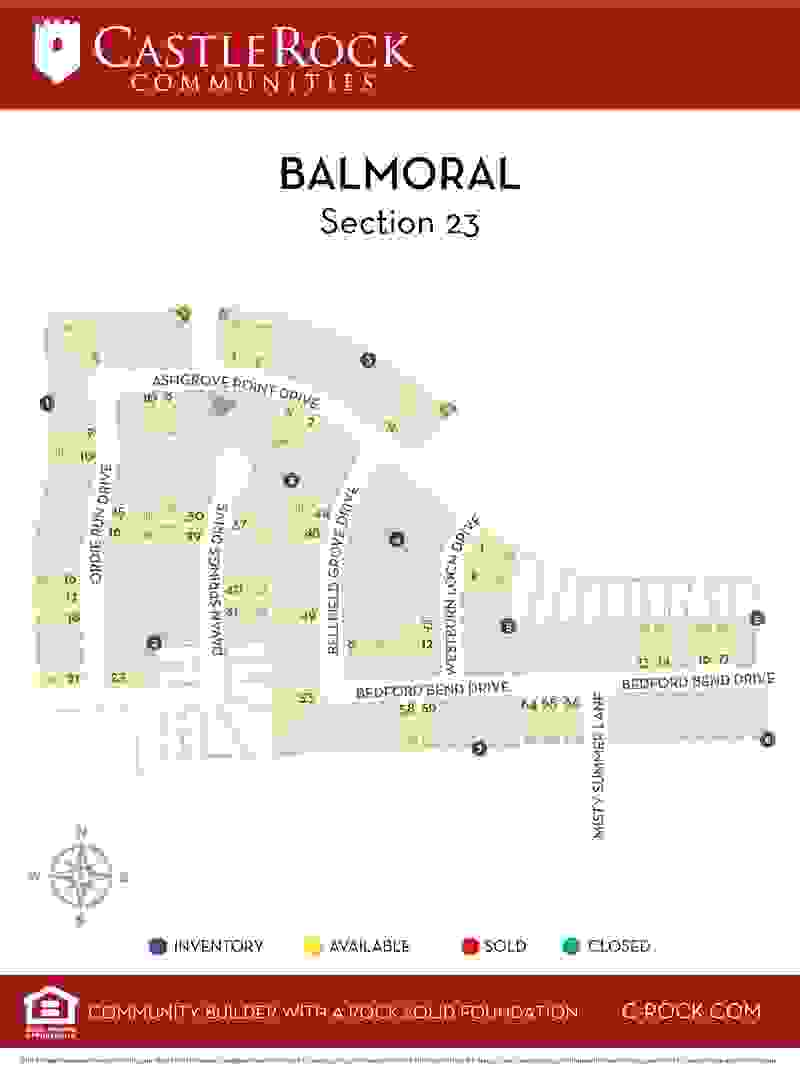 Balmoral Section 23 Lot Map