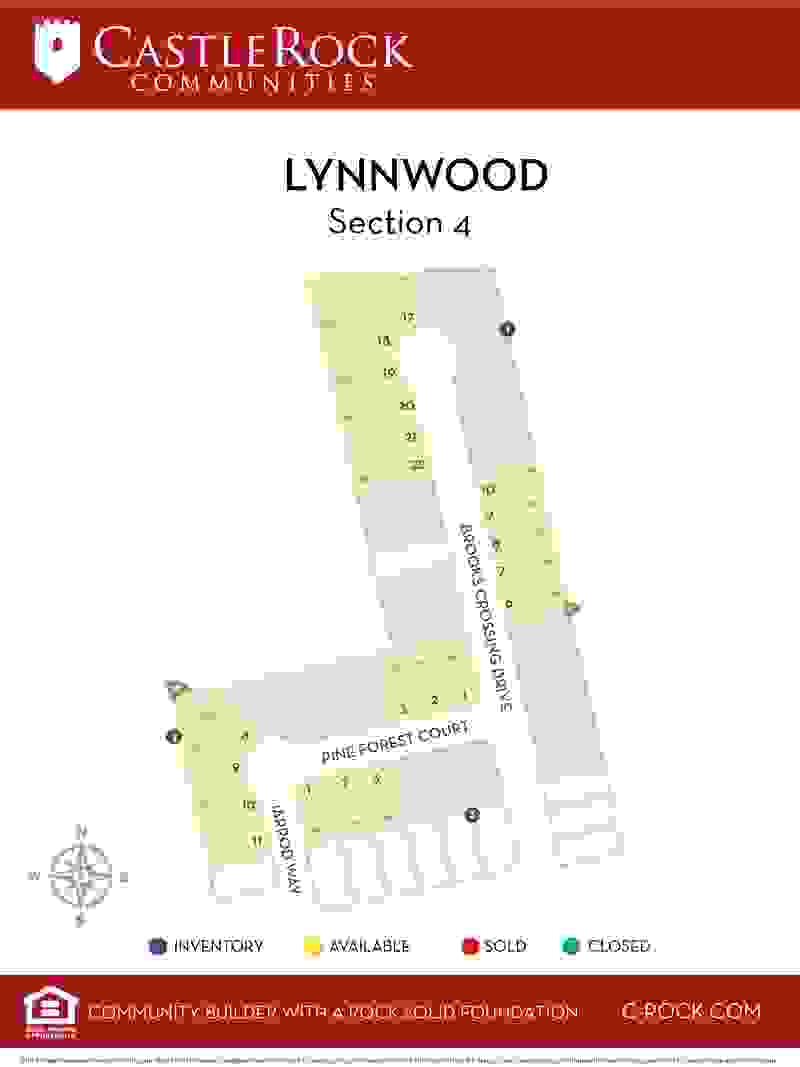 Lynnwood Section 4 Lot Map