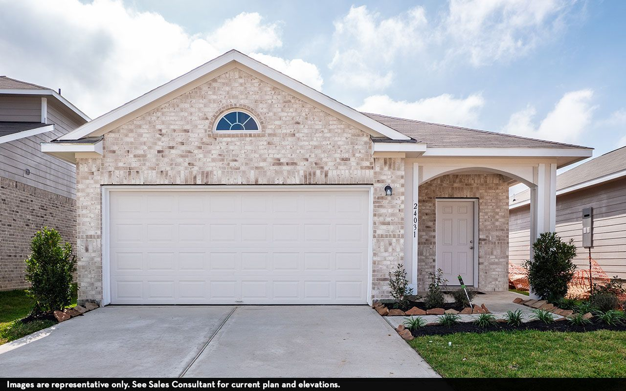 Exterior featured in the Oak-Cobalt By CastleRock Communities in Houston, TX