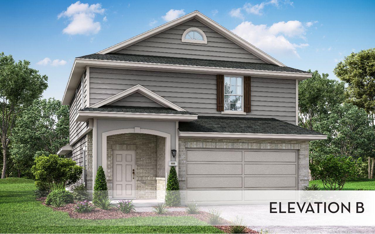 Exterior featured in the Cedar-Cobalt By CastleRock Communities in Houston, TX