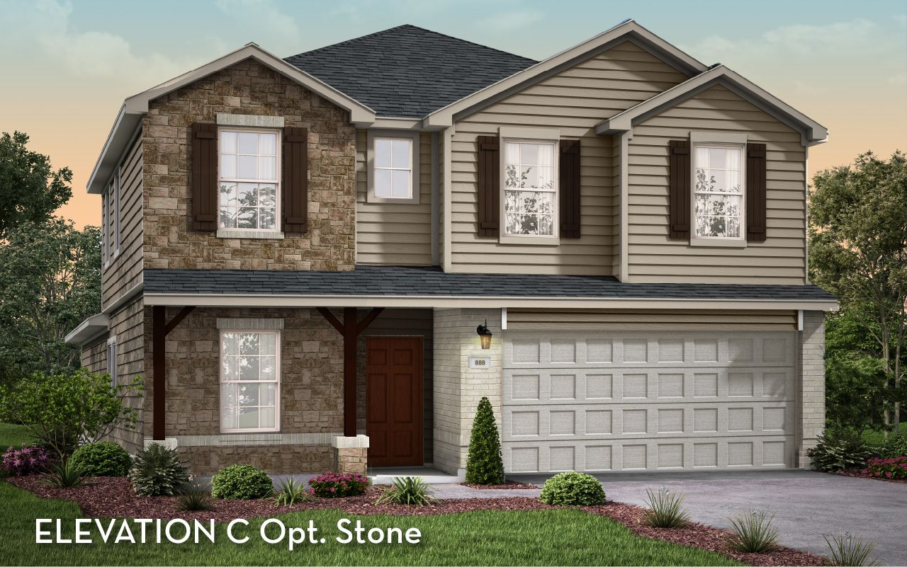 Exterior featured in the Concho-Cobalt By CastleRock Communities in Austin, TX