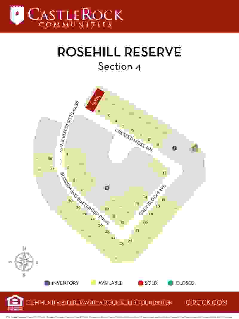 Rosehill Reserve Section 4 Lot Map
