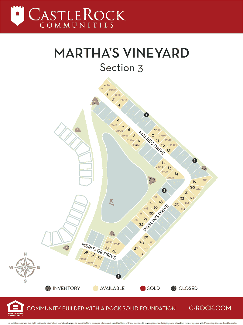 Martha's Vineyard Section 3 Lot Map