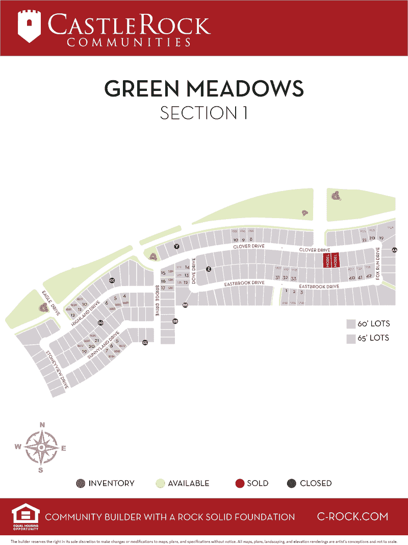 Green Meadows Section 1 Map