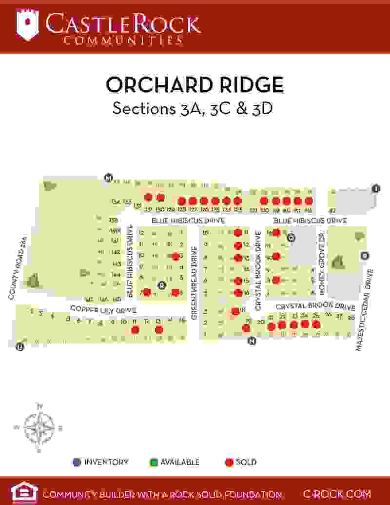 Orchard Ridge Section 3A, 3C & 3D Map