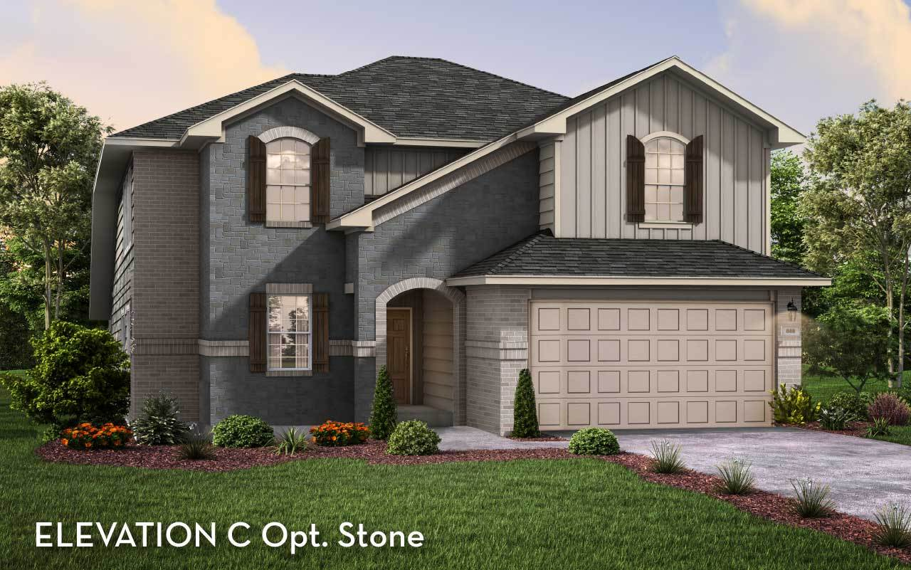 Exterior featured in the San Marcos By CastleRock Communities in Houston, TX