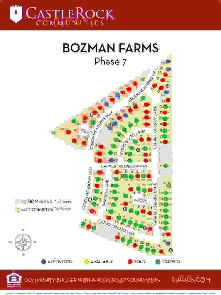 Bozman Farms Phase 7 Lot Map