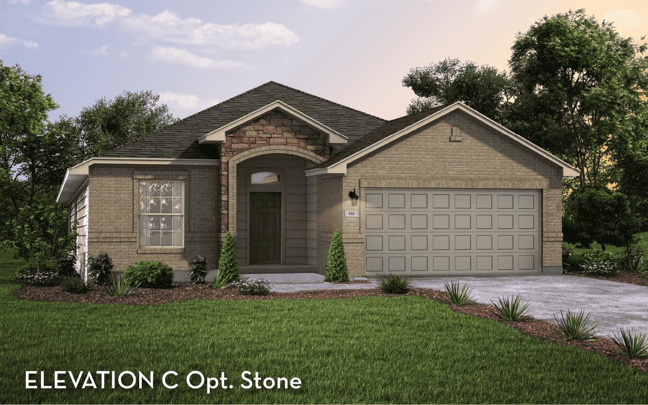 Aspen Elevation C Opt. Stone