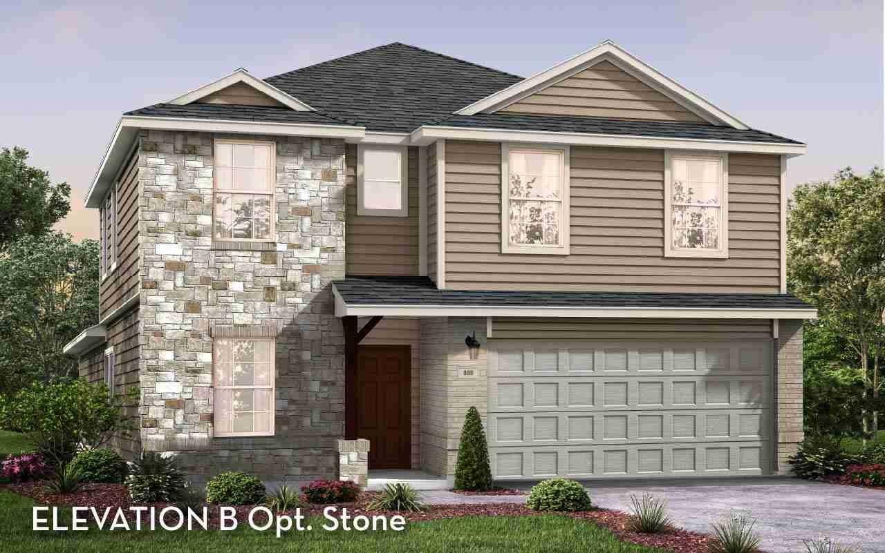 Concho Elevation  B Stone