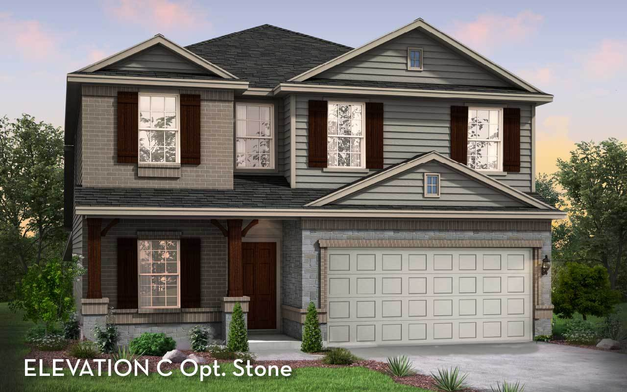 Exterior featured in the Trinity By CastleRock Communities in Houston, TX