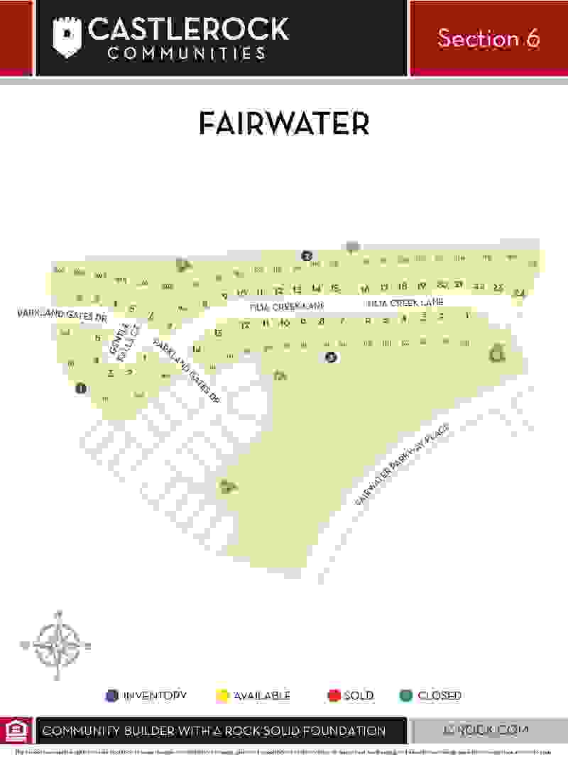 Fairwater Section 6 Map