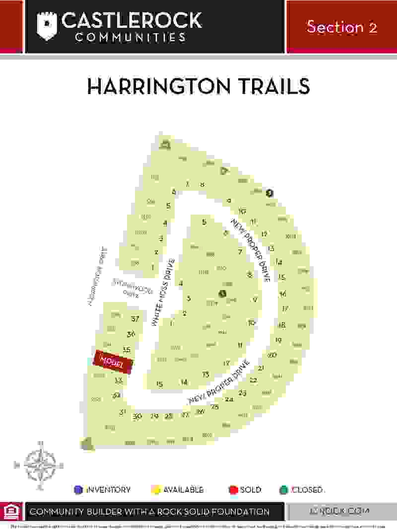 Harrington Trails Section 2 Lot Map