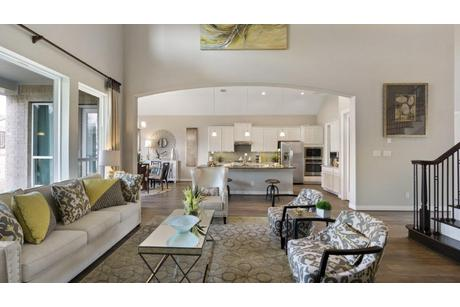 Greatroom-and-Dining-in-Artesia-Gold-at-Woodshore-in-Clute
