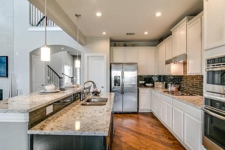 Kitchen-in-Fremont-Gold-at-Stone Crossing-in-New Braunfels