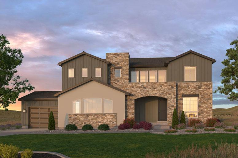 Exterior featured in the Signature Series Plan Two By Celebrity Communities in Denver, CO