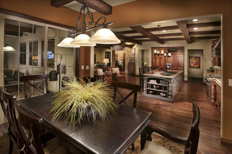 Greatroom-and-Dining-in-The Overlook Plan Four-at-Heritage Hills-in-Lone Tree