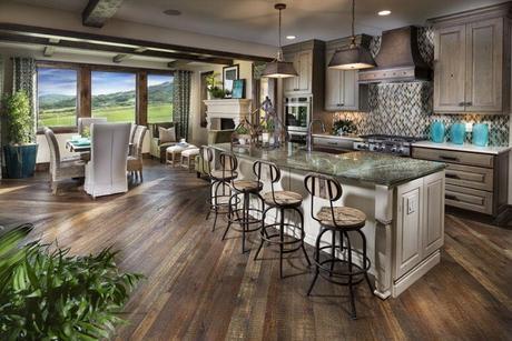 Kitchen-in-European Hillside Bordeaux Plan-at-Pradera-in-Parker