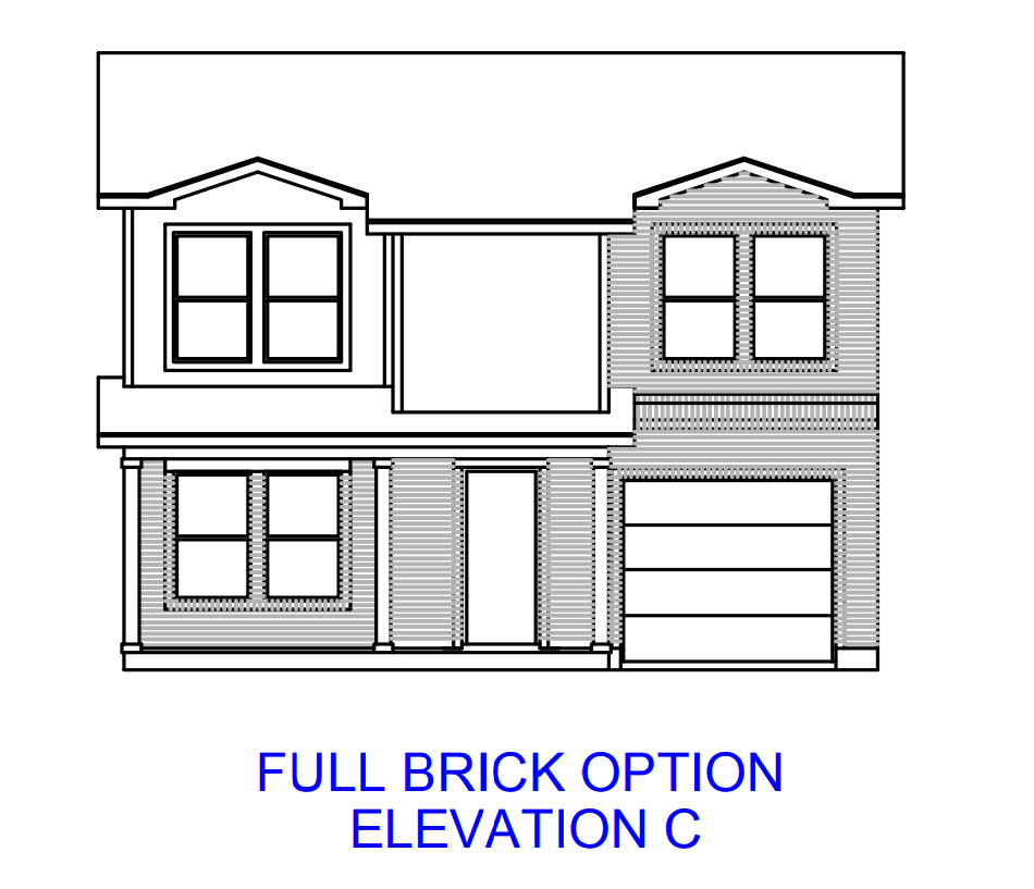 Exterior featured in the Plan 1549 By Censeo Homes in Houston, TX