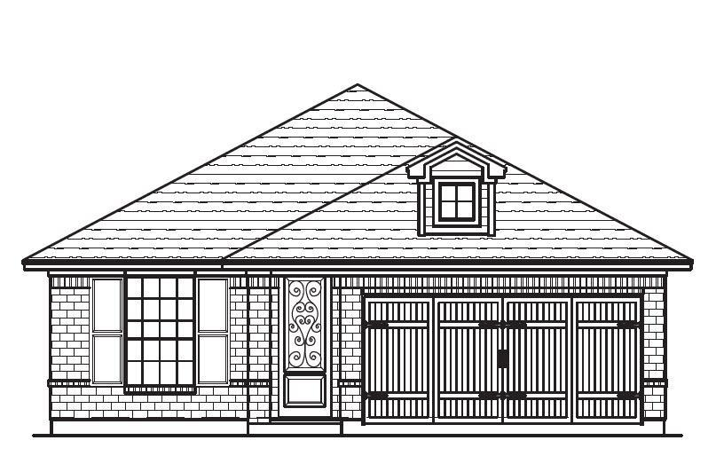 Exterior featured in the Plan 4505 By Censeo Homes in Brazoria, TX