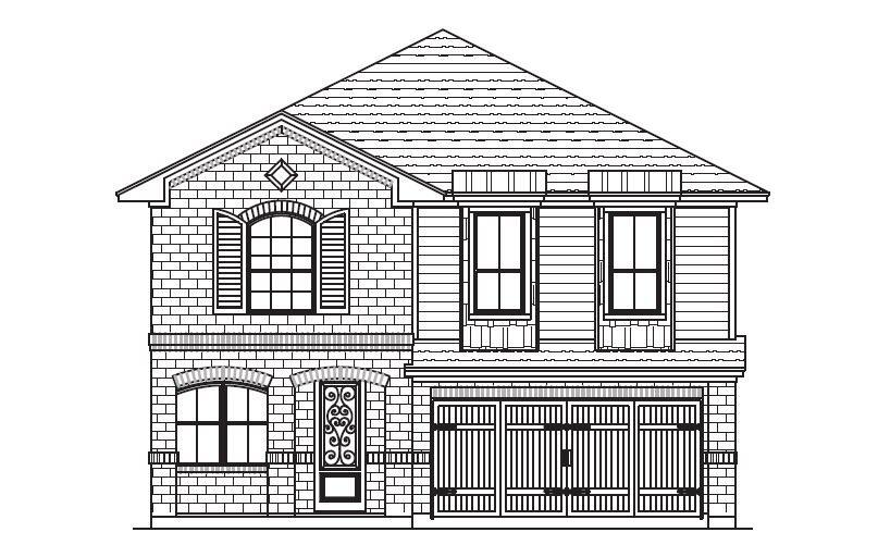 Exterior featured in the Plan 4520 By Censeo Homes in Brazoria, TX