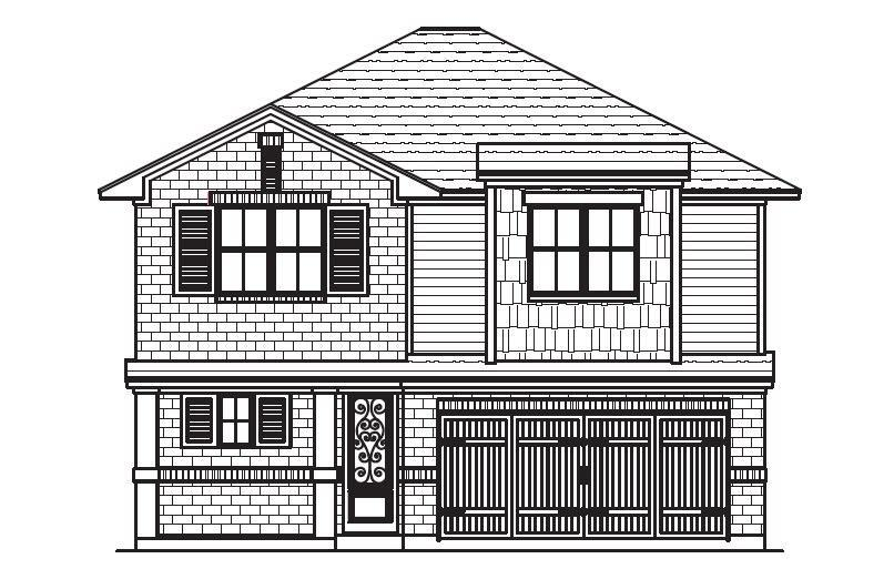 Exterior featured in the Plan 4522 By Censeo Homes in Brazoria, TX