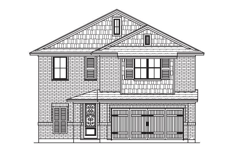 Exterior featured in the Plan 4526 By Censeo Homes in Brazoria, TX