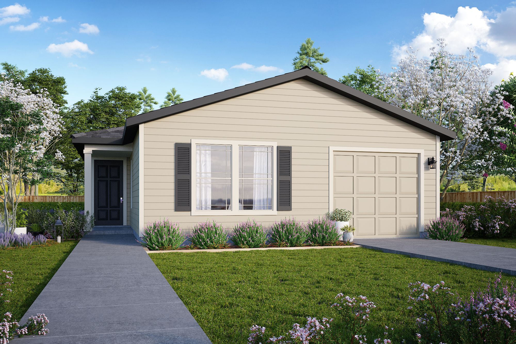 Exterior featured in the Plan 1278 By Censeo Homes in Houston, TX