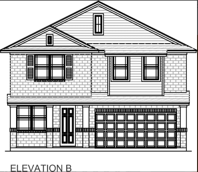 Exterior featured in the Plan 2256 By Censeo Homes in Brazoria, TX