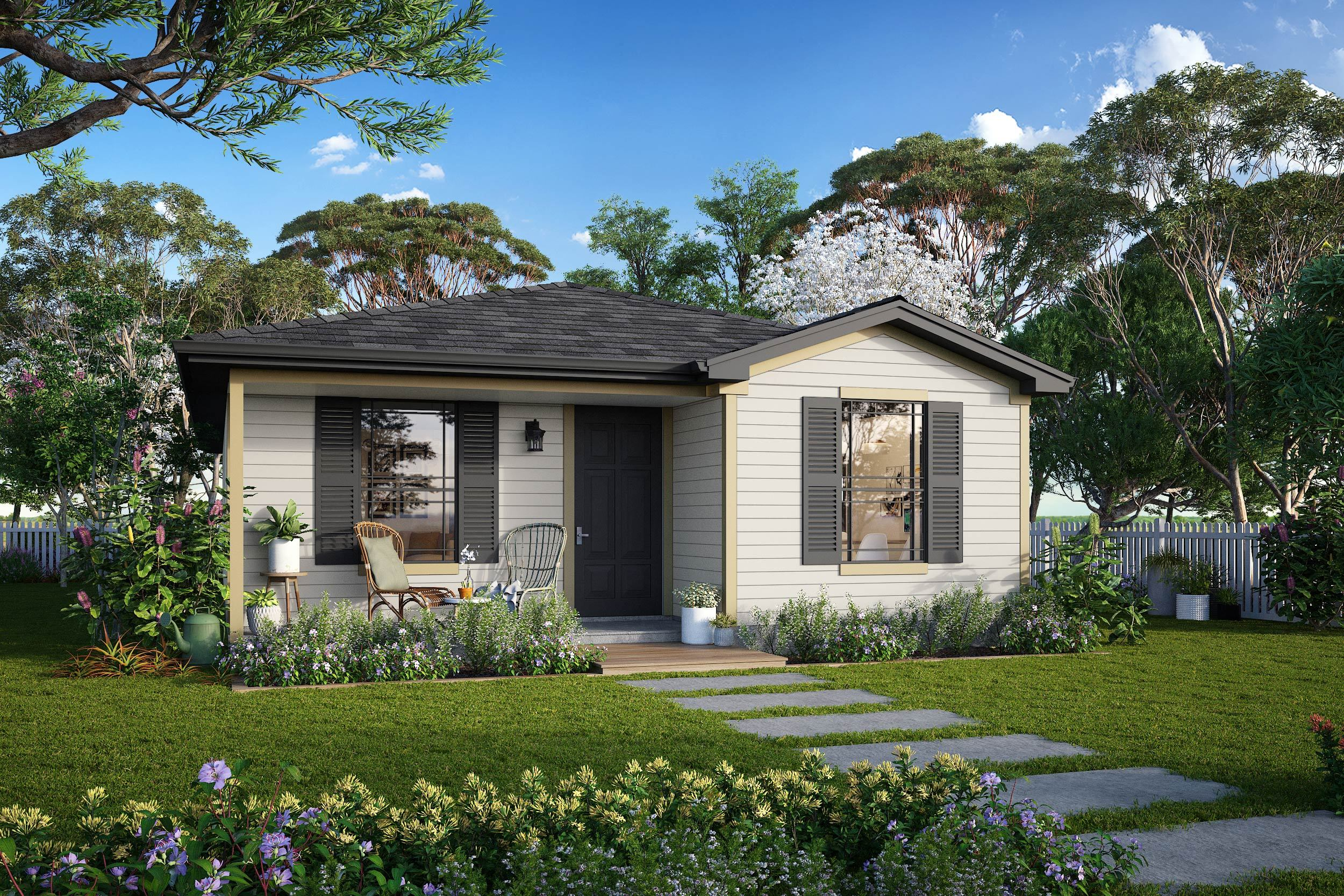 Exterior featured in the Plan 1 By Censeo Homes in Beaumont, TX