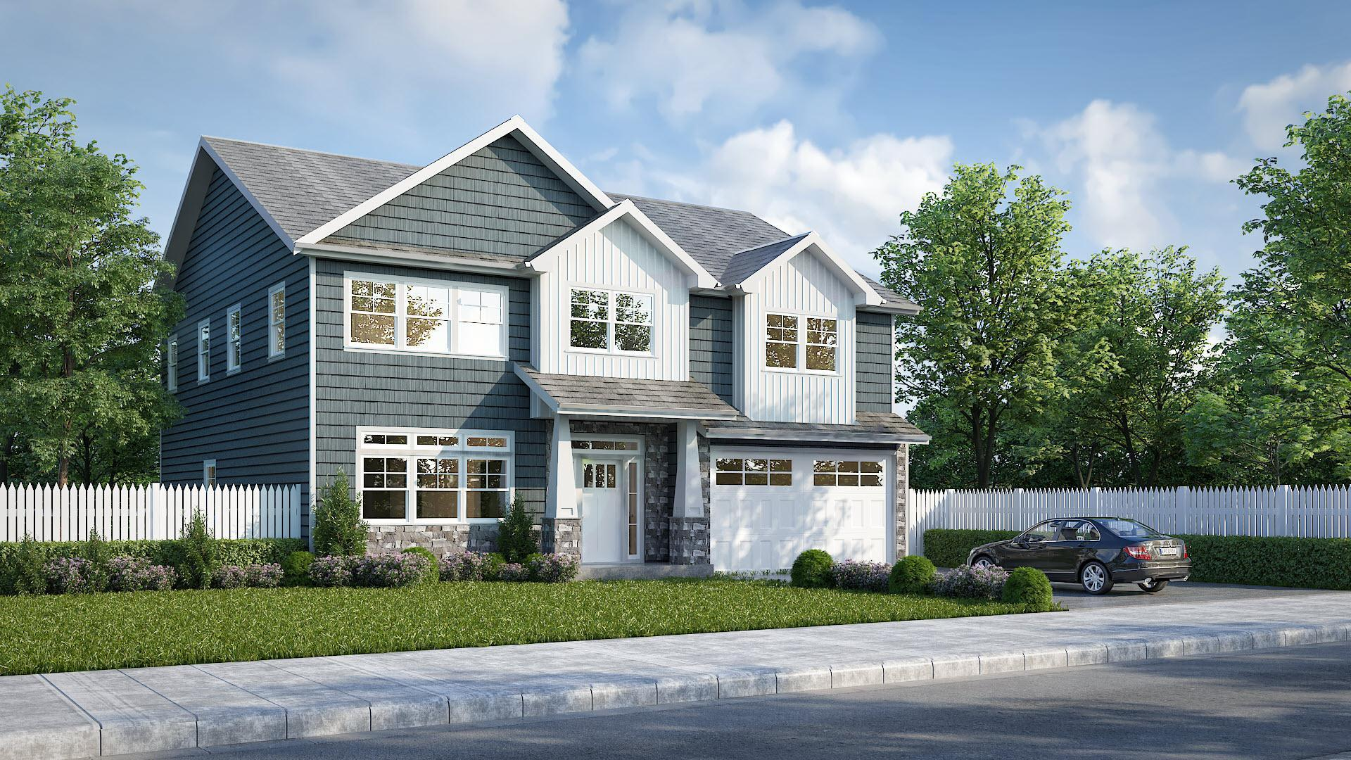 Exterior featured in the 2962-2 (Price Assumes Average Lot Cost Of $500,000)