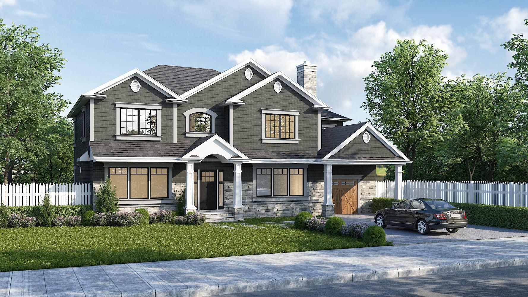 Exterior featured in the 3053-2 (Price Assumes Average Lot Cost Of $500,000)
