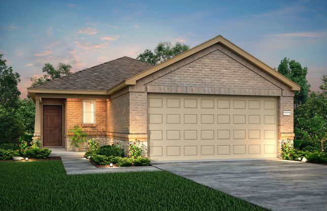 Exterior:The Adams, a 1-story new construction home showing Home Exterior X