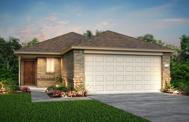 Exterior:The Adams, a 1-story new construction home showing Home Exterior W