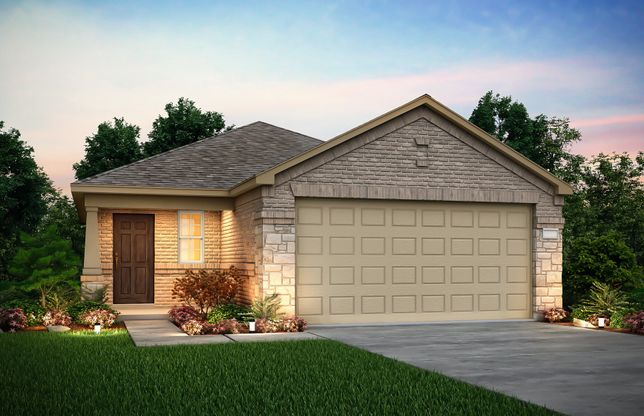 Exterior:The Taft, a 1-story new construction home showing Home Exterior Q