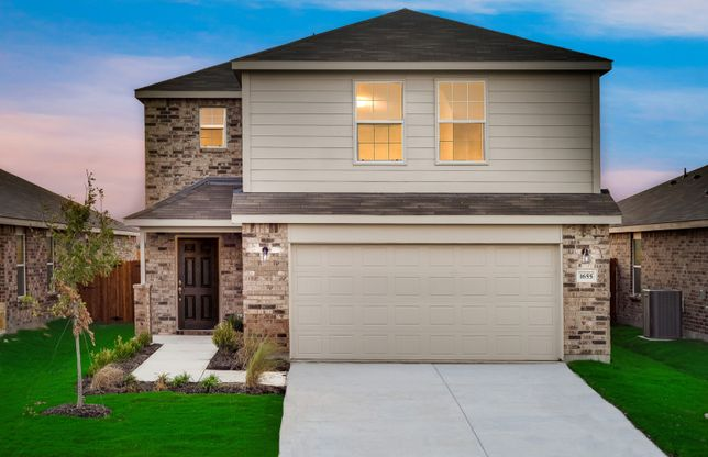 Pierce:The Pierce, a 2-story new construction home showing Home Exterior W