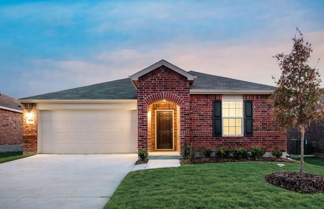 Killeen:The Killeen, a one-story home with 2-car garage, shown with Home Exterior D