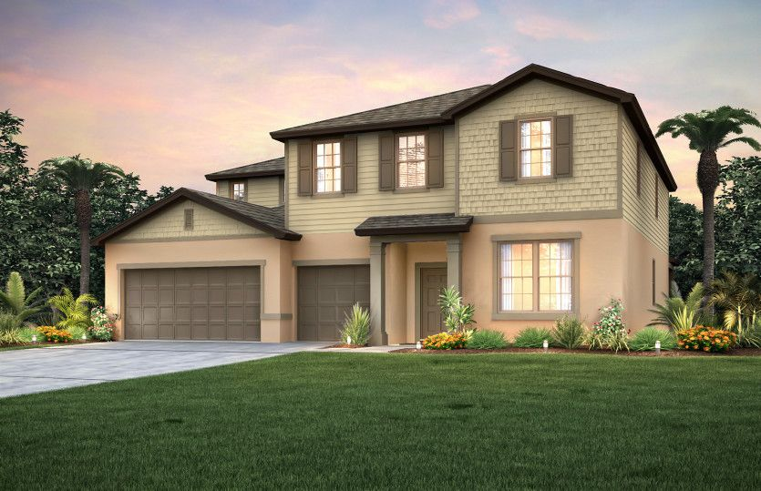 Exterior featured in the Mariner By Centex Homes in Tampa-St. Petersburg, FL