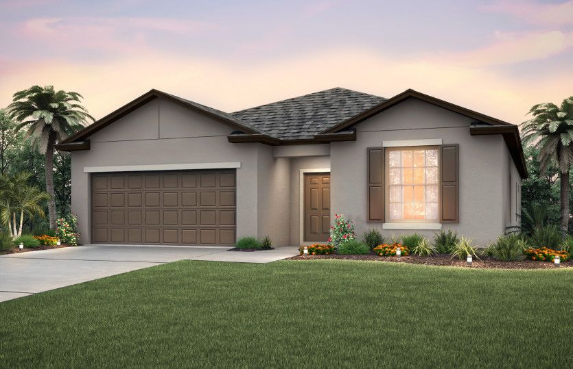 Exterior featured in the Oasis By Centex Homes in Tampa-St. Petersburg, FL