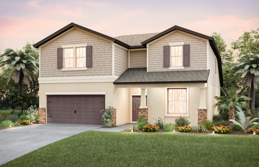 Exterior featured in the Citrus Grove By Centex Homes in Tampa-St. Petersburg, FL