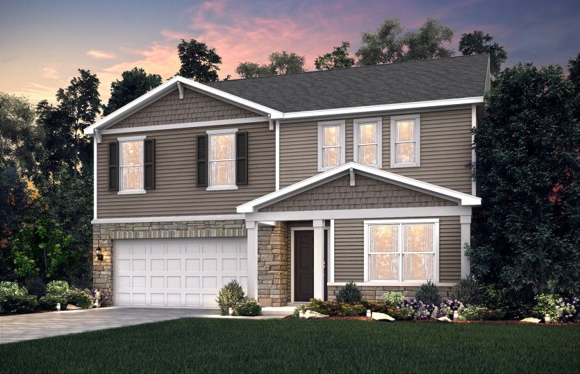 Exterior featured in the Hampton By Centex Homes in Louisville, KY