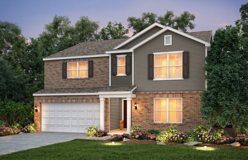 Exterior featured in the Mitchell By Centex Homes in Louisville, KY