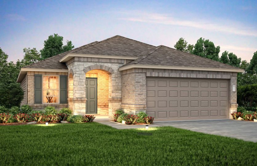Exterior featured in the Becket By Centex Homes in Austin, TX