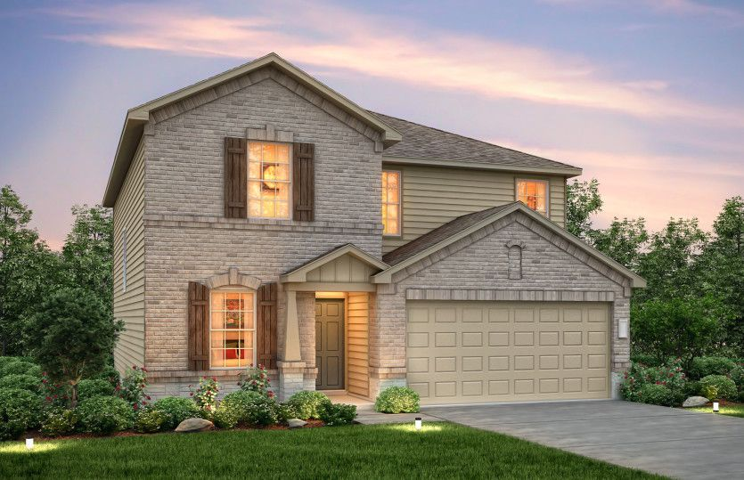 Exterior featured in the Sandalwood By Centex Homes in Austin, TX