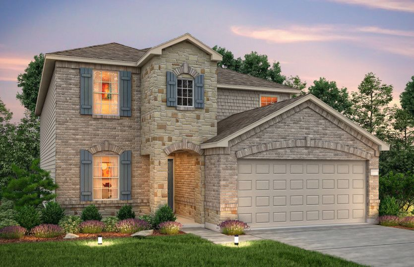 Exterior featured in the Mesilla By Centex Homes in Houston, TX
