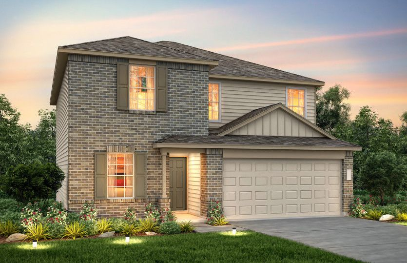 Exterior featured in the Sandalwood By Centex Homes in Houston, TX