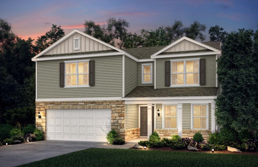 Exterior featured in the Claypool By Centex Homes in Columbus, OH
