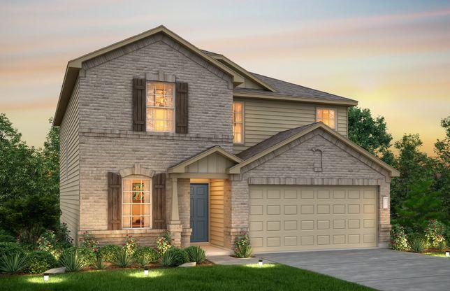Old Centex Homes Floor Plans: Sandalwood Plan, Georgetown, Texas 78626